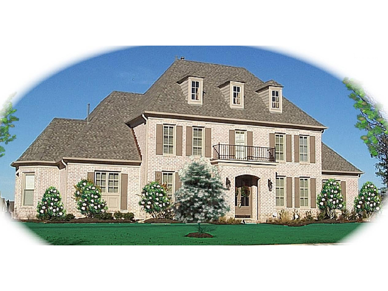 European House Plan Front of Home - 087D-1049 | House Plans and More