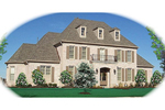 Colonial Floor Plan Front of Home - 087D-1049 | House Plans and More