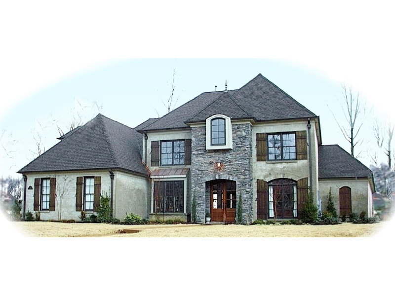 Traditional House Plan Front of Home - 087D-1051 | House Plans and More