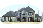 European House Plan Front of Home - 087D-1051 | House Plans and More