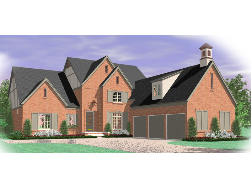 European House Plan Front of Home - 087D-1052 | House Plans and More