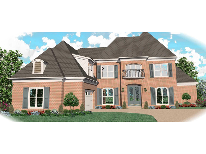Traditional House Plan Front of Home - 087D-1055 | House Plans and More