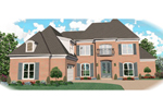 European House Plan Front of Home - 087D-1055 | House Plans and More