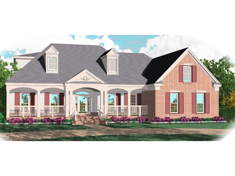 Colonial House Plan Front of Home - 087D-1059 | House Plans and More