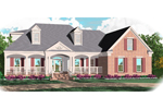 Craftsman House Plan Front of Home - 087D-1059 | House Plans and More