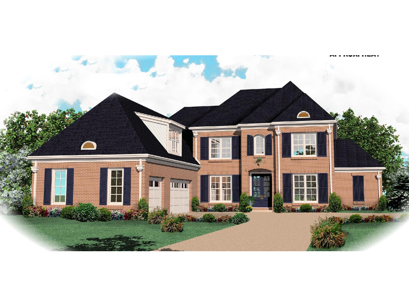 Colonial House Plan Front of Home - 087D-1061 | House Plans and More