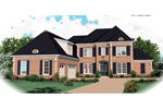 Colonial Floor Plan Front of Home - 087D-1061 | House Plans and More