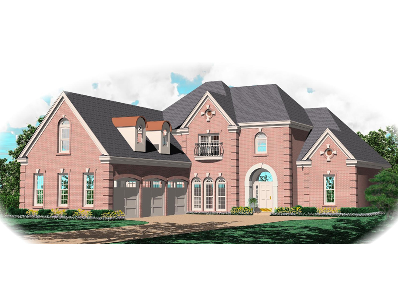 Luxury House Plan Front of Home - 087D-1062 | House Plans and More