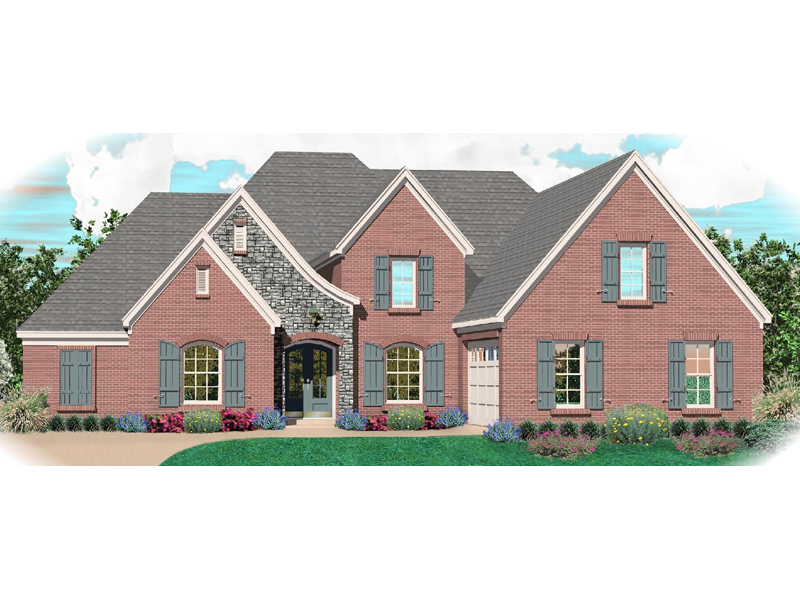 Traditional House Plan Front of Home - 087D-1065 | House Plans and More
