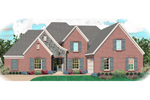 Colonial Floor Plan Front of Home - 087D-1065 | House Plans and More