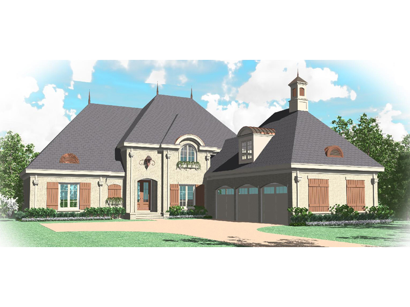 European House Plan Front of Home - 087D-1066 | House Plans and More