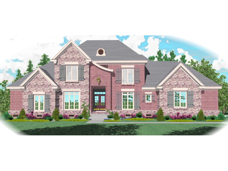 Country House Plan Front of Home - 087D-1072 | House Plans and More