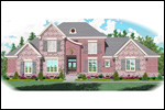 Colonial House Plan Front of Home - 087D-1072 | House Plans and More