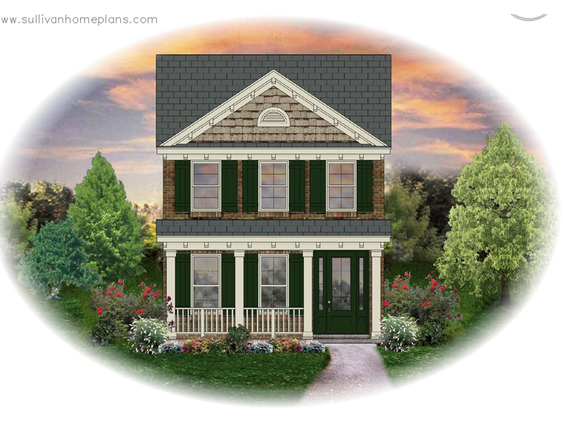 Colonial Floor Plan Front of Home - 087D-1202 | House Plans and More