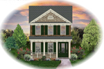 Colonial House Plan Front of Home - 087D-1202 | House Plans and More