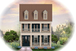 Colonial House Plan Front of Home - 087D-1208 | House Plans and More