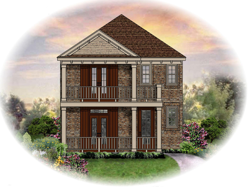 Colonial House Plan Front of Home - 087D-1209 | House Plans and More