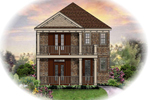 Colonial Floor Plan Front of Home - 087D-1209 | House Plans and More