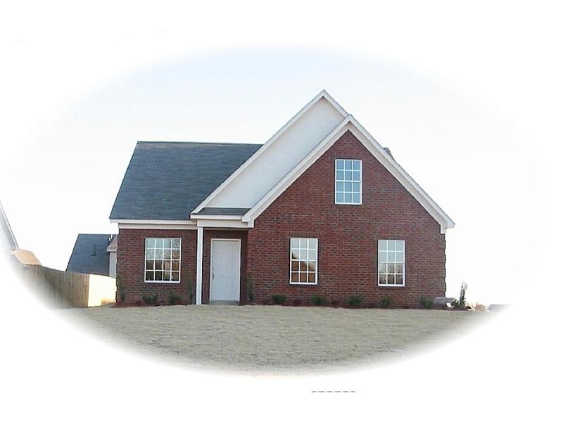 Narrow Lot Brick Home Has Traditional Style