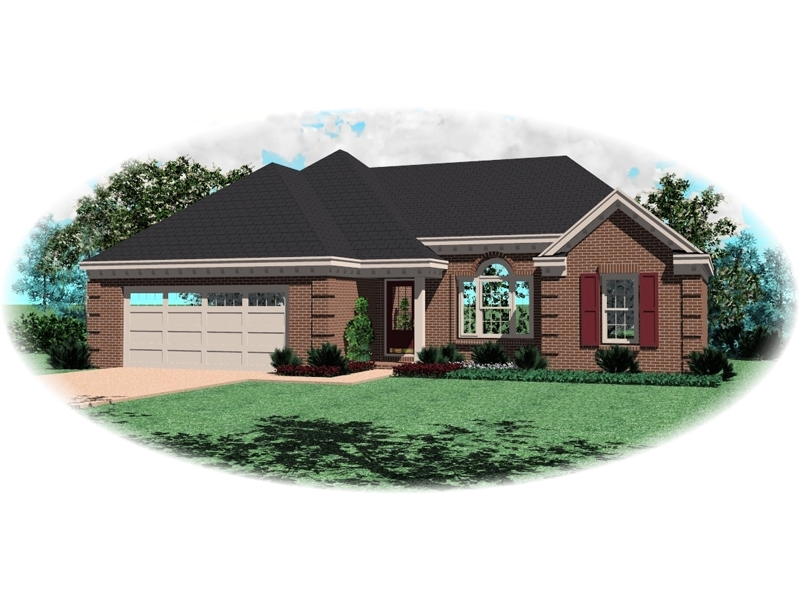 Ranch House Plan Front of Home - 087D-1255 | House Plans and More