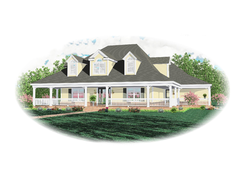 Cape Cod and New England Plan Front of Home - 087D-1295 | House Plans and More