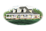 Farmhouse Home Plan Front of Home - 087D-1295 | House Plans and More
