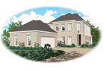 European House Plan Front of Home - 087D-1300 | House Plans and More