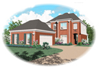 Colonial House Plan Front of Home - 087D-1301 | House Plans and More