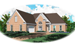 Traditional House Plan Front of Home - 087D-1304 | House Plans and More