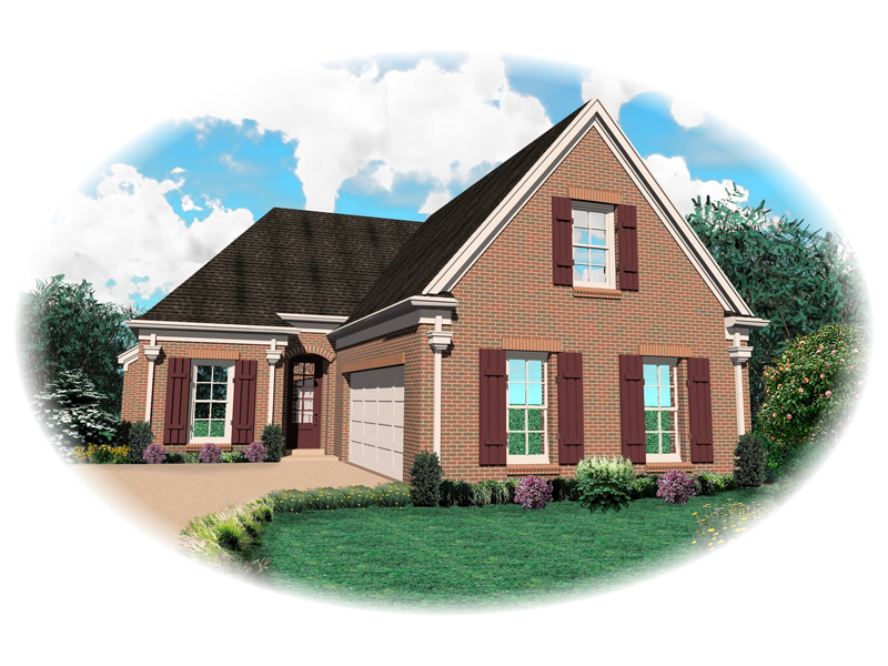 Ranch House Plan Front of Home - 087D-1312 | House Plans and More