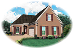 Traditional House Plan Front of Home - 087D-1312 | House Plans and More