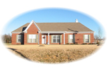 Ranch House Plan Front of Home - 087D-1316 | House Plans and More