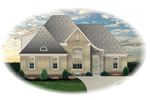 Ranch House Plan Front of Home - 087D-1318 | House Plans and More