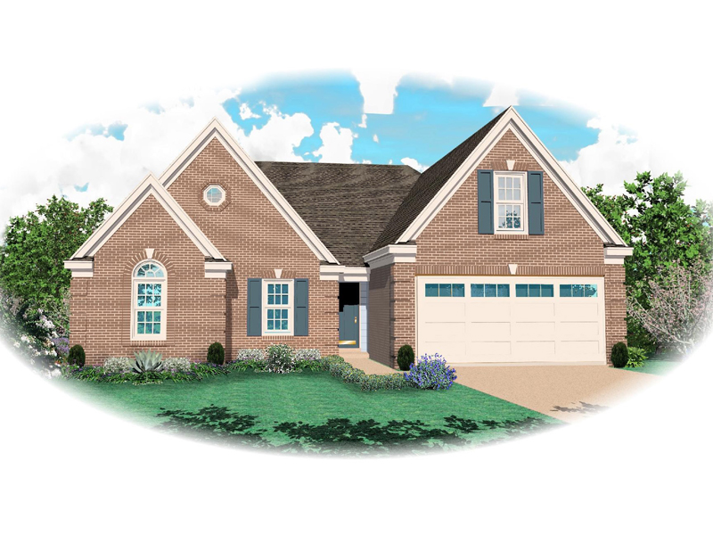 Ranch House Plan Front of Home - 087D-1342 | House Plans and More