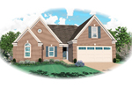 Traditional House Plan Front of Home - 087D-1342 | House Plans and More