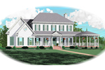 Wrap-Around Porch With Gazebo Adds Curb Appeal