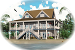 Beach and Coastal House Plan Front of Home - 087D-1557 | House Plans and More