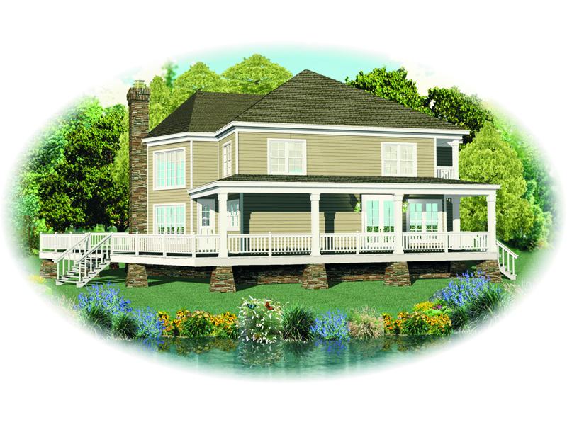 Cabin & Cottage House Plan Front of Home - 087D-1669 | House Plans and More