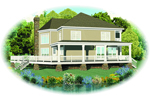Lake House Plan Front of Home - 087D-1669 | House Plans and More