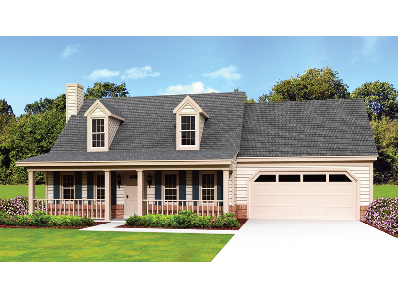 Acadian House Plan Front of Home 087D-1671