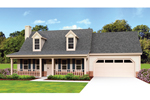 Colonial House Plan Front of Home - 087D-1671 | House Plans and More