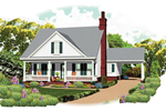 Cabin & Cottage House Plan Front of Home - 087D-1672 | House Plans and More