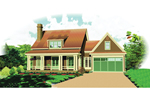 Acadian House Plan Front of Home - 087D-1673 | House Plans and More