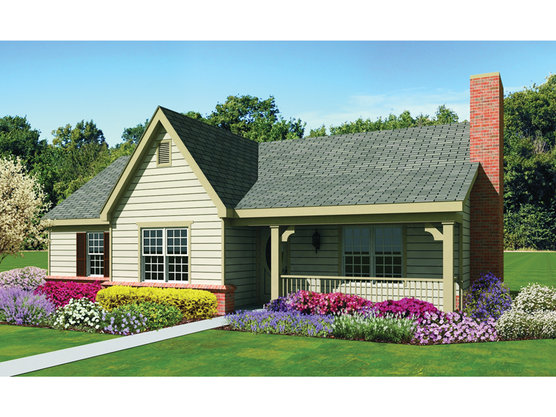 Traditional House Plan Front of Home - 087D-1674 | House Plans and More