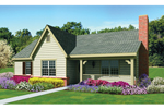 Ranch House Plan Front of Home - 087D-1674 | House Plans and More