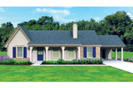 Ranch House Plan Front of Home - 087D-1675 | House Plans and More