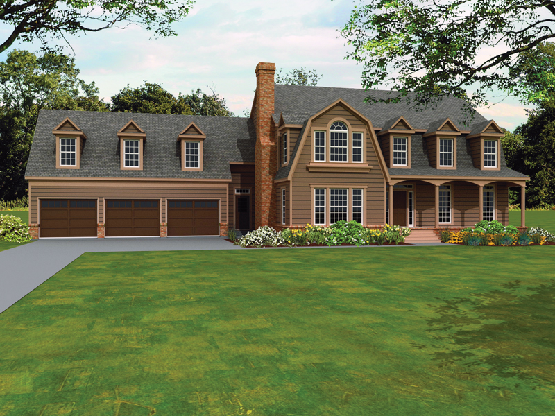 Southern House Plan Front of Home - 087D-1678 | House Plans and More