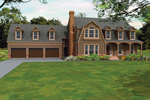 Farmhouse Plan Front of Home - 087D-1678 | House Plans and More
