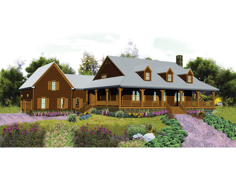 Rustic Home Plan Front of Home - 087D-1679 | House Plans and More
