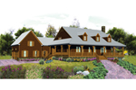 Cabin and Cottage Plan Front of Home - 087D-1679 | House Plans and More